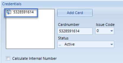 Mifare Credential Number