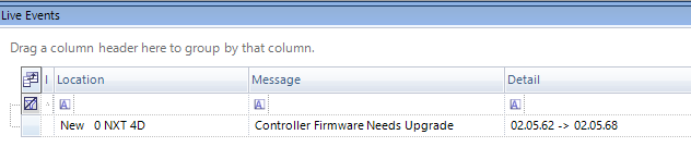 Firmware Upgrade Required