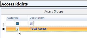 Assign Access Group