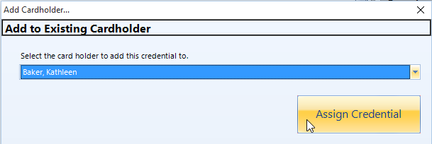 Assign Credential