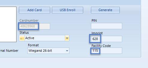 USB Enroll New Record